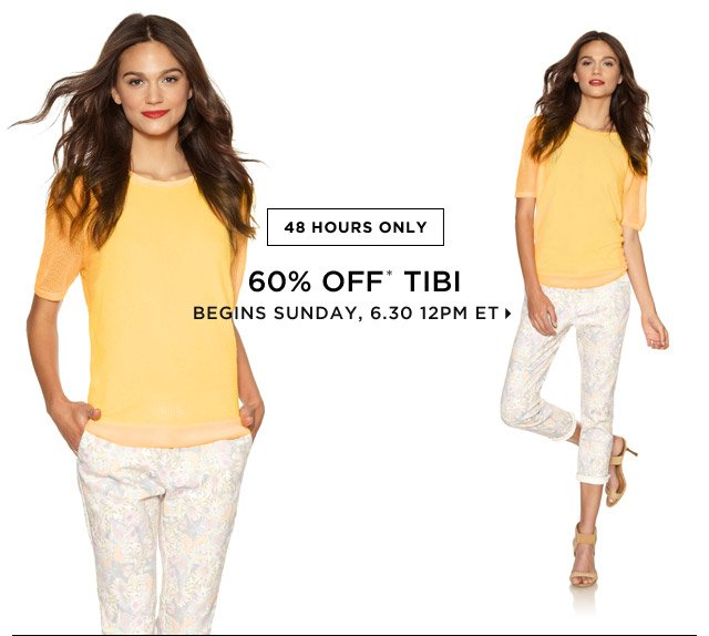 60% Off* Tibi...Shop Now