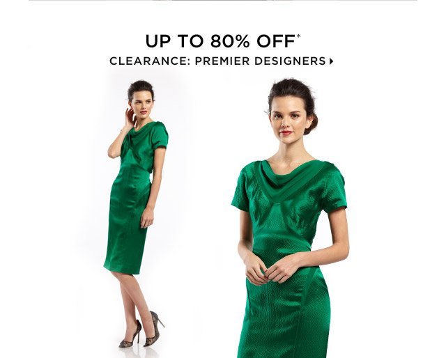 Up To 80% Off Clearance: Premier Designers
