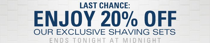 Last Chance to Enjoy 20% Off!