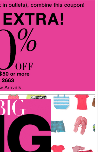 Save an EXTRA 20% with your new coupon!