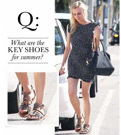 What are the key shoes for summer?