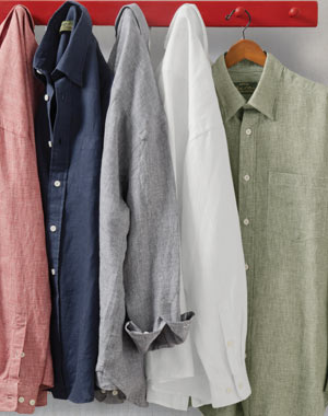 Pure Linen Long-Sleeved Shirts