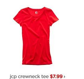 jcp crewneck tee $7.99 › orig. $12