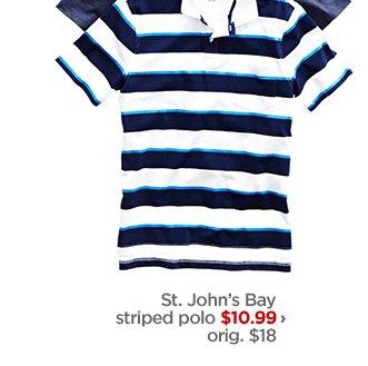 St. John's Bay striped polo $10.99 › orig. $18