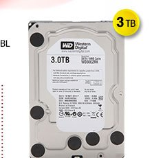 "Refurbished: WD WD Green 3TB IntelliPower 64MB Cache SATA 6.0Gb/s 3.5"" Internal Hard Drive"