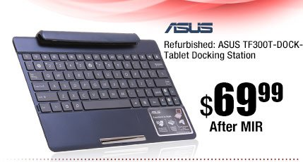 Refurbished: ASUS TF300T-DOCK-BL Tablet Docking Station