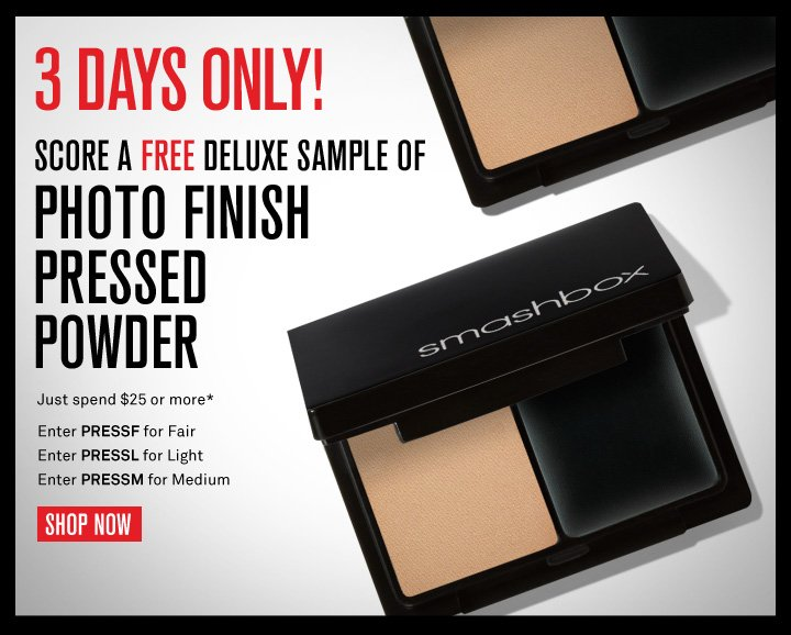 3 Days Only! Free Deluxe Sample Of Photo Finish Pressed Powder