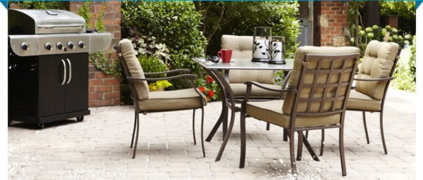 FREE Delivery and Assembly on patio furniture, grills and outdoor power equipment $399 or more.* Offer ends 7/8/13.