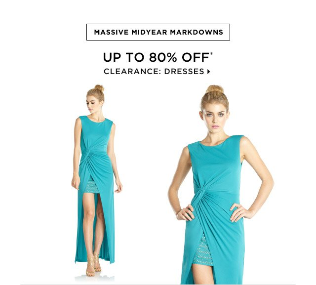 Up To 80% Off* Clearance: Dresses
