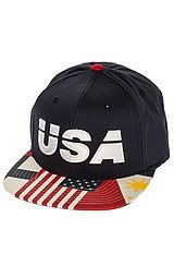 The USA Snapback Hat in Navy