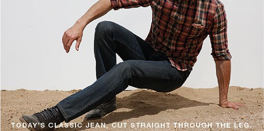505™- Today's classic jean, cut straight through the leg.