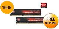 AMD Radeon™ RE1600 Entertainment Series 16GB (2 x 8GB) 240-Pin DDR3 1600 (PC3 12800) Desktop Memory