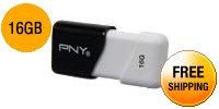 PNY Compact Attaché 16GB USB 2.0 Flash Drive Model P-FD16GCOM-GE