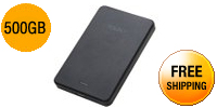 HGST Touro Mobile 500GB USB 3.0 Black External Hard Drive 0S03452