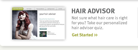 hair advisor. get started.