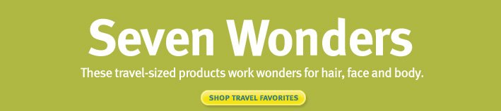 seven wonders. shop travel favorites.