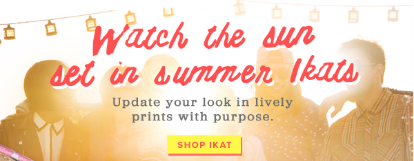 Watch the sun set in summer Ikats