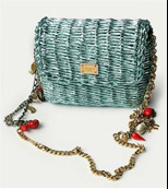 Dolce & Gabbana Metallic Wicker Style Shoulder Bag