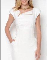 Taylor Avedon Asymmetrical Neckline Dress