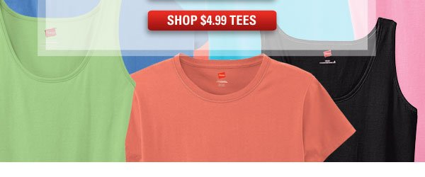 Live.Love.Color: Shop Tees $4.99