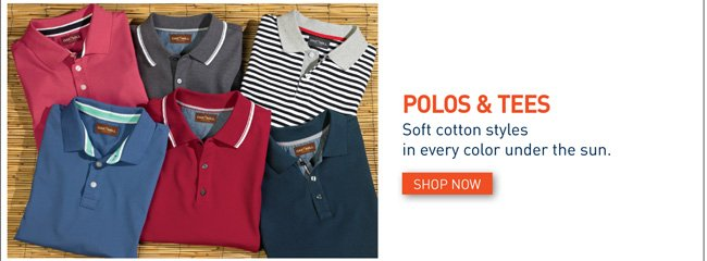 Shop all Polos and Tees