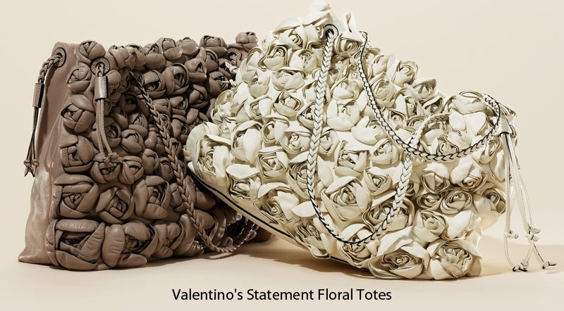 Valentino's Statement Floral Totes