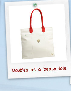 Doubles as a beach tote