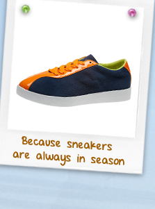 Because sneakers are always in season