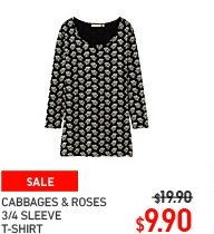 women-cabbages-amp-roses-3-4-sleeve-t-shirt