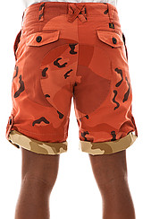 The Ground Troops Shorts in Red Chips