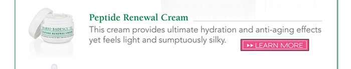 Peptide Renewal Cream - This cream provides ultimate hydration and anti-aging effects yet feels light and sumptuously silky.