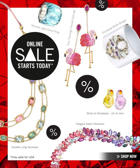 Online SALE starts today // Only valid for USA