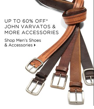 Up To 60% Off* John Varvatos & More Accessories