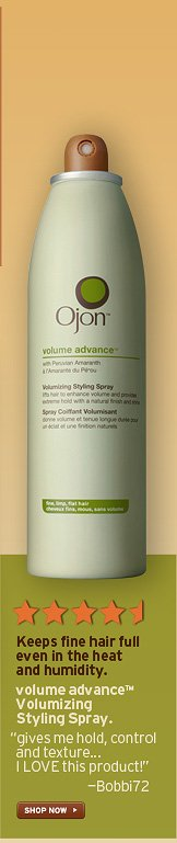 Keeps fine hair full even in the heat and humidity volume advance  Volumizing Styling Spray gives me hold control and texture I LOVE this  product Bobbi72 SHOP NOW