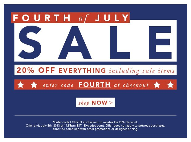 20% Off Everything Including Sale Items