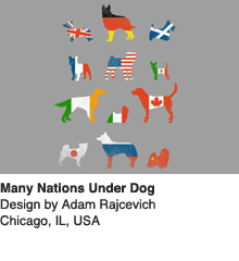 Many Nations Under Dog - Design by Adam Rajcevich / Chicago, IL, USA