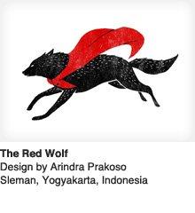 The Red Wolf - Design by Arindra Prakoso / Sieman, Yogyakarta, Indonesia