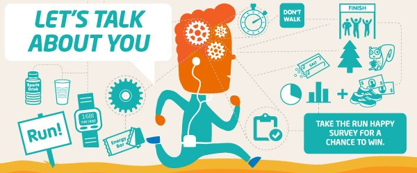 b76dd1b8466 Let s talk about you - take our annual Run Happy Survey for your chance to  win
