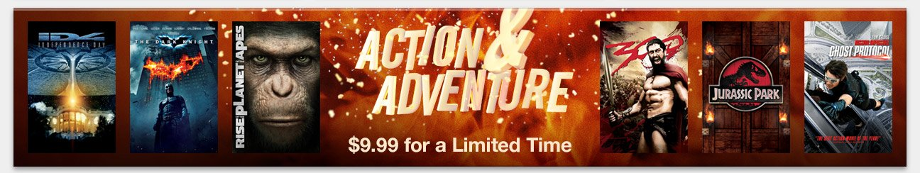 Action Movies: $9.99 for a Limited Time