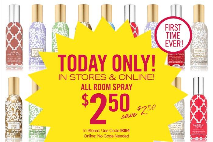All Room Sprays – $2.50