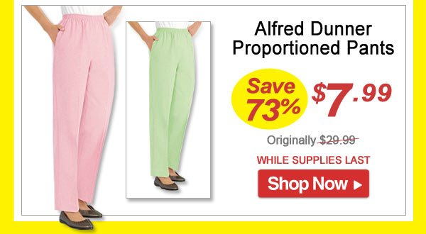 Alfred Dunner Proportioned Pants - Save 73% - Now Only $7.99 Limited Time Offer