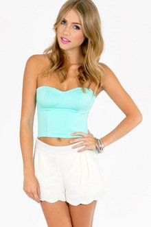 MARCI SCALLOPED SHORTS 33