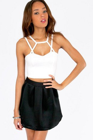 CAGED CAPRICA CROP TOP 28