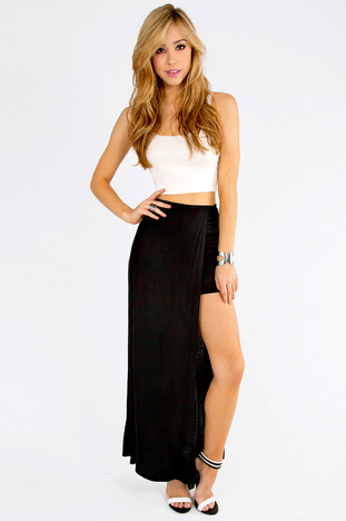 IN AND OUT MAXI SKIRT 30