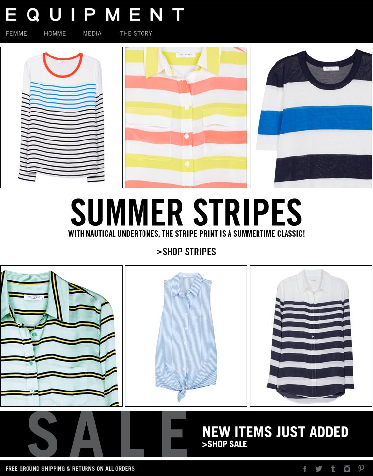 SUMMER STRIPES WITH NAUTICAL UNDERTONES, THE STRIPE PRINT IS A SUMMERTIME CLASSIC >SHOP STRIPES