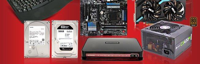 Keyboard, MB, VGA, HDD, Router, PSU