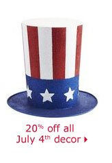 20% off all July 4th decor