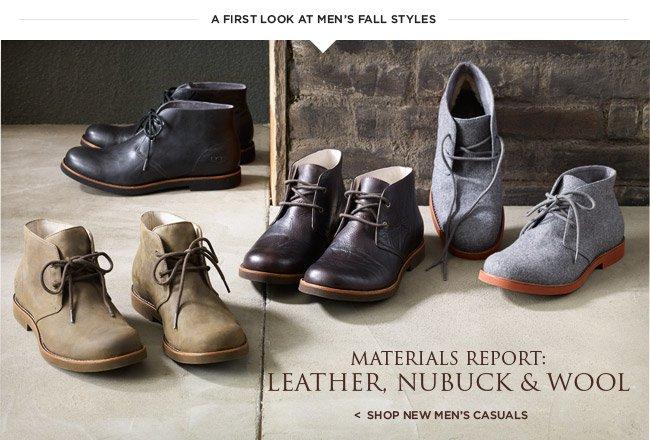 Materials Report: Leather, Nubuck, & Wool - Shop new men's casuals
