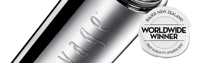 PREVAGE® Anti-aging Daily Serum. BAUER NEW ZEALAND. WORLDWIDE WINNER. BEST IN BEAUTY AWARDS 2013.