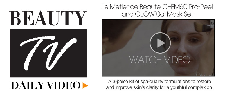 Le Metier de Beaute CHEM60 Pro-Peel and GLOW10ai Mask Set Deck: A 3-peice kit of spa-quality formulations to restore and improve skin's clarity for a youthful complexion. Watch Video>>
